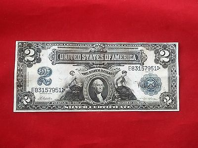 "FR-253  1899 Series $2 Two Dollar ""Mini Porthole"" Silver Certificate *Very Fine*"