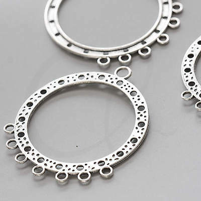 4pcs Oxidized Silver Tone Base Metal 7 to 1 Earring Component (1948X-L-179)