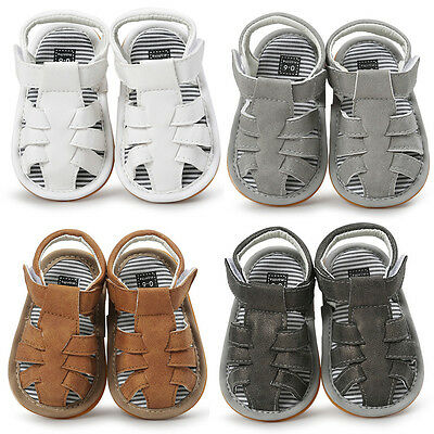 Baby Newborn Soft Crib Sole Leather Shoes Girl Boy Kid Toddler Prewalker Sandals