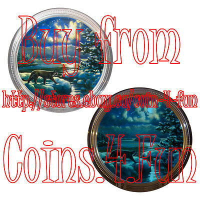 2017 Canada Glow-In-The-Dark Animals in Moonlight #1 Cougar 2 oz $30 Silver Coin