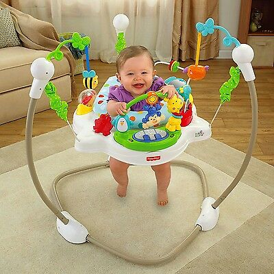 Fisher-Price Zoo Party Jumperoo w/ Music Lights Exciting Sounds Comfy Seat NEW