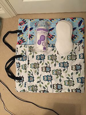 Reusable Nappy Accessory Bundle Wash bag Mioliner And Fleece Liners