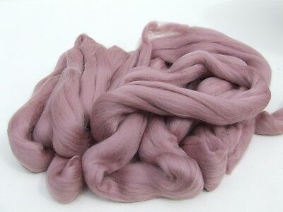 1950g Fine Coloured Merino Wool 19.5mic top roving spinning felting Dusky Pink