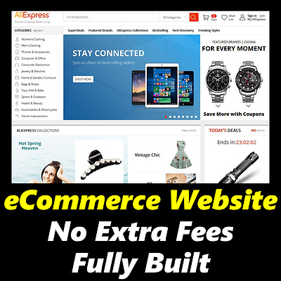 Website - eCommerce - 100 Million Products - Home Online Business - For Sale