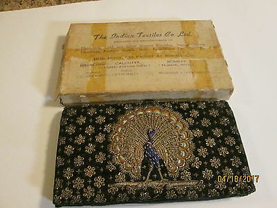 Vintage 1950's Black Velvet with Gold Purse from India