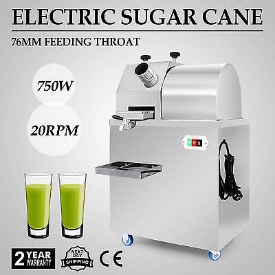 Electric Sugar Cane Press Juicer Stainless Steel Galvanized Roll food grade new