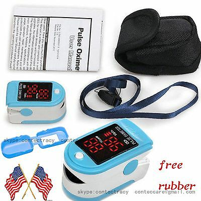 US seller Pulse Oximeter Fingertip CMS50DL Blood Oxygen SpO2 Monitor FDA,rubber