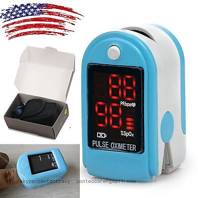 LED Fingertip Pulse Oximeter oxymeter spo2,PR monitor Blood Oxygen meter,softbag