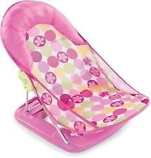 Summer Infant Bather Baby Bath Seat Support Sink Tub Foldable Girls Circle Daisy