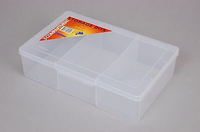 3 Compartment Plastic Storage Box Large/Deep - Fischer