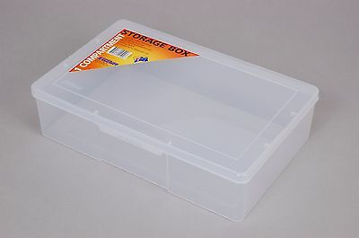 1 Compartment Plastic Storage Box Large/Deep - Fischer