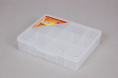 14 Compartment Plastic Storage Box Medium - Fischer 1H039