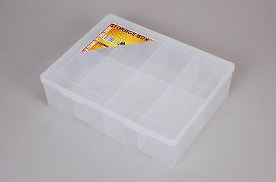 8 Compartment Plastic Storage Box Extra Large/Extra Deep - Fischer