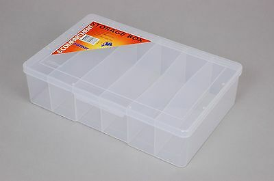 6 Compartment Plastic Storage Box Large/Deep- Fischer