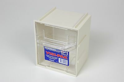 Medium Plastic Storage Box w/ Draws & Clips - Fischer Visi Pak 1H041