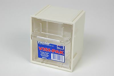 Small Plastic Storage Box w/ Draws & Clips - Fischer Visi Pak  1H040
