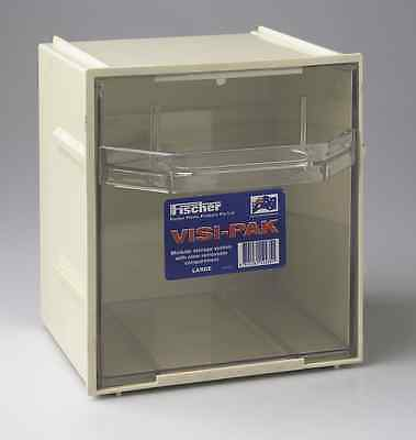 Large Plastic Storage Box w/ Draws & Clips - Fischer Visi Pak 1H042