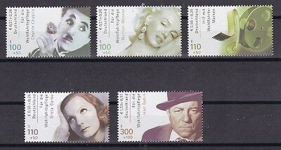 BRD 2001 postfrisch  MiNr. 2218-2222   Internationale Filmschauspieler