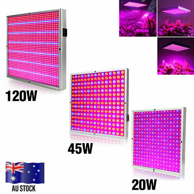 20W 45W 120W LED Grow Light Panel Blue Red Lamp for Indoor Hydroponic Plants AU