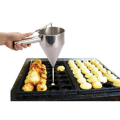 Kitchen Use Funnel Octopus Balls Tools With Rack Sauce Funnel Stainless Steel