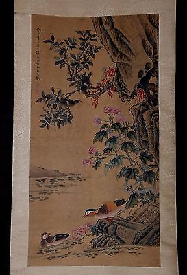 Rare Old Chinese Handwork Scroll Hand Painting Landscape By MaYuanYu Collection