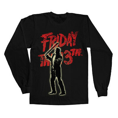 Officially Licensed  Friday The 13th- Jason Voorhees Long Sleeve Tee S-XXL Sizes