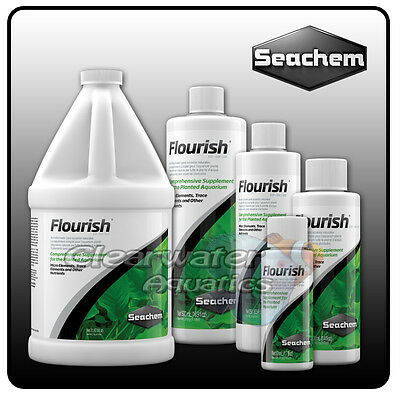 Seachem Flourish Aquarium Live PLANT Food TRACE ELEMENTS NUTRIENTS Fish Tank