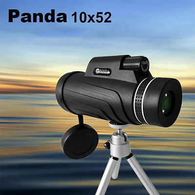 Panda 10X52 Zoom HD Optical Prism Outdoor Travel   Monocular Telescope + Tripod
