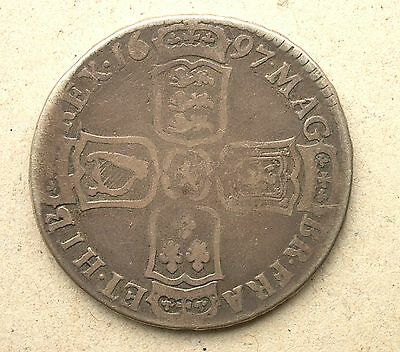British - 1697 William III  Half-Crown