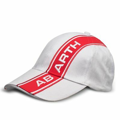 Abarth Fiat Abarth Cap Kappe One Size weiß Low Profile mit Metall Buckle TOP