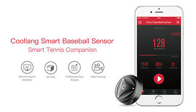 Coollang Baseball Bat Sensor Swing Data Activity Tracker Sports Bluetooth 4.0