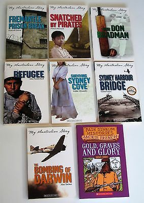 My Australian Story books Bombing of Darwin Refugee Surviving Sydney Cove etc