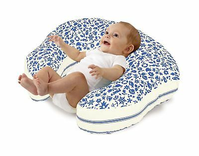 Love2Sleep BREAST MATERNITY FEEDING BABY NURSING PILLOW  BLUE & CREAM : SEASIDE