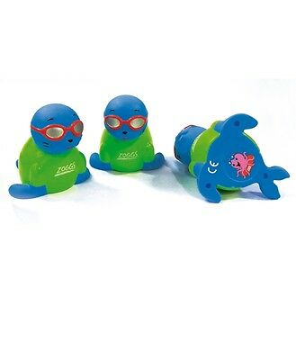 Zoggs Kids Zoggy Seal Search and Rescue - Dive Toy - Set of 4 - Free Delivery