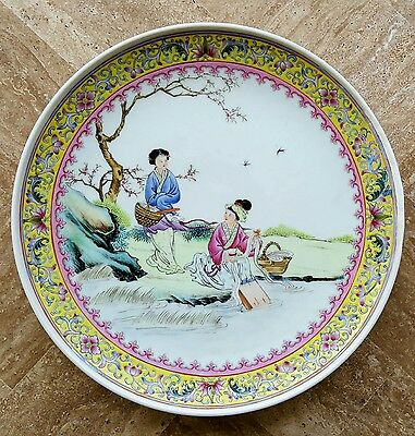 Chinese ROC Republic of China Painted Plate Early 20th Century