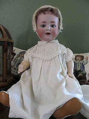 """Antique K.R Simon & Halbig 126German Bisque Character baby Doll 25""""Moving Tongue"""