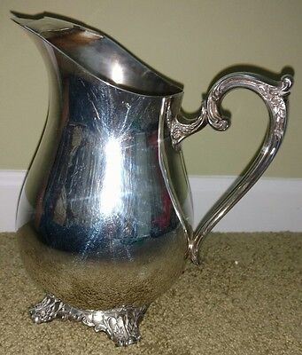 WM ROGERS & Son Silverplated Water Pitcher VICTORIAN ROSE -1917