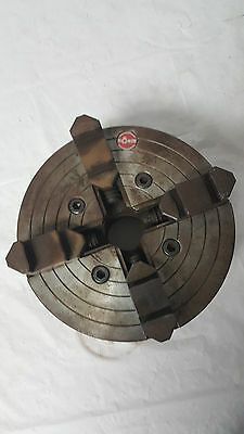 "Rohm 10"" Lathe Chuck 4 Jaw Independent Scroll Metal"
