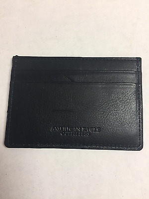 American Eagle Outfitters Black leather wallet ID/credit card holder New no tag