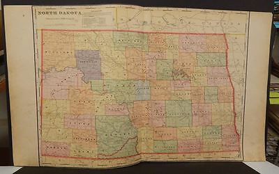 North Dakota State Map Indian Reservations  c1910 Double Page  L7#70