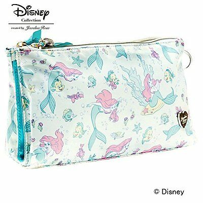 """Limited Disney Collection  """"Ariel & Pals""""Series W Fastener Pouch Purse Bag"""