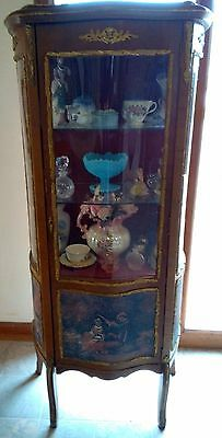Louis Xv Hand Painted French Curio Cabinet