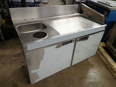 """Krowne 48"""" S/s Drainboard With Hand Sink And 6"""" Cutout."""