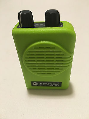 MOTOROLA MINITOR V 5 LOW BAND PAGER 45-49 MHz 2-FREQ NON-STORED VOICE APEX GREEN