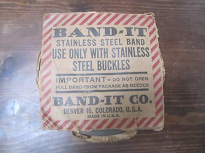 """Band-It Stainless Steel Band  3/4"""" x 100 Ft. NOS"""