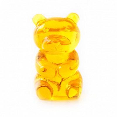 Support Lunettes, Yummy Bear, transparent, amarill