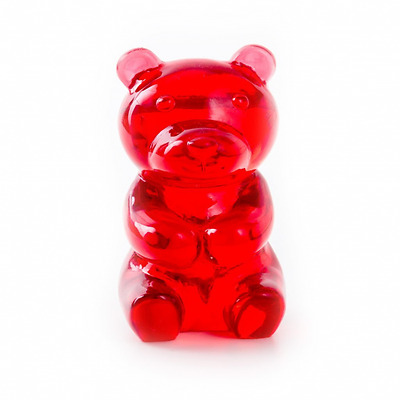 Support Lunettes, Yummy Bear, transparent, rouge