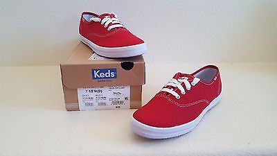 Keds Women's Champion Oxford Canvas Sneaker - Size 7.5M - Red  - NEW - #WF31300