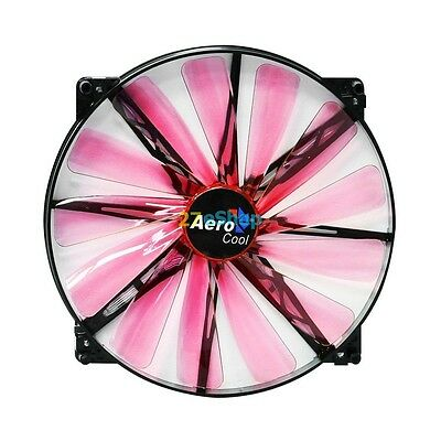 Ventola Aerocool Lightning Ventola da 200mm Red Led Edition Ventola 20cm 700rpm