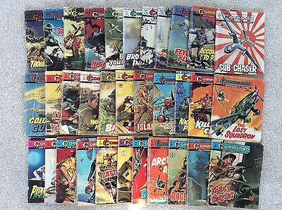 Job Lot of 33 early issues of Commando comic books